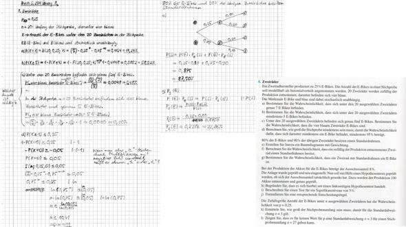 Stochastikaufgabe: Bernoulli-Ketten, bedingte Wahrscheinlichkeiten,... - Kontrolle meiner Ergebnisse?