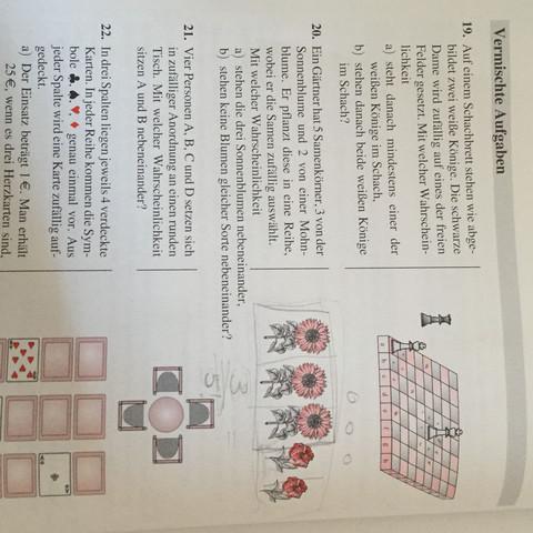 Aufgabe 20 bitte beachten - (Schule, Mathe, Abitur)