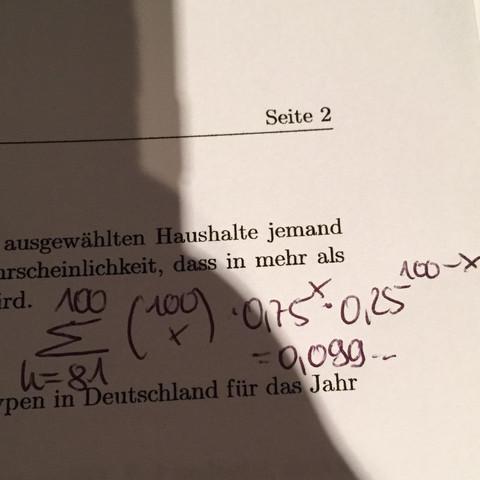 Das ist meine Rechnung  - (Mathe, Abi)