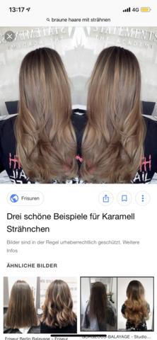 Blonde strähnen glatte haare