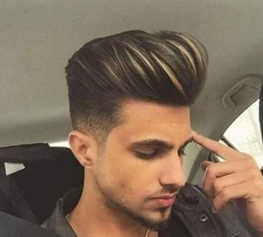 Gefärbt mann haare blond Männer Frisuren