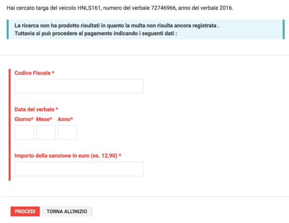 Screenshot von der Stelle an der die Steuernummer gefordert wird  - (Ausland, Italien, italienisch)