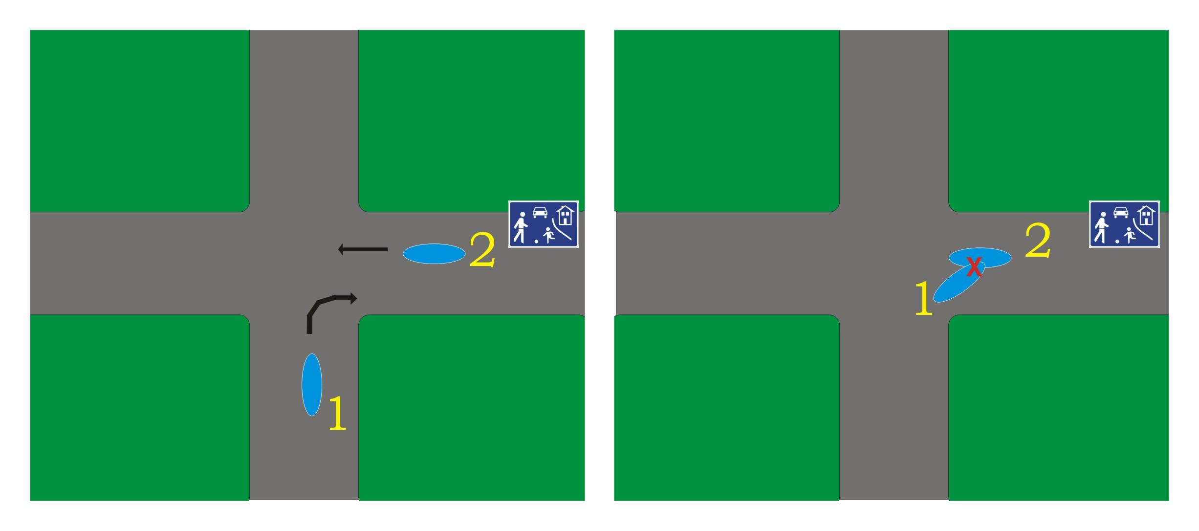 Straßenverkehr Spielstraße Rechts Vor Links Schuldfrage Und