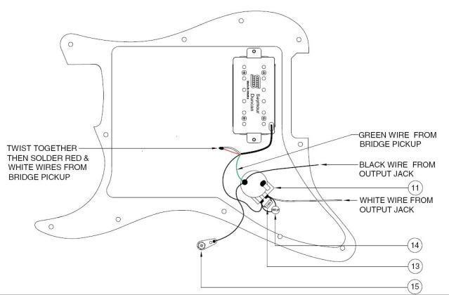 Stratocaster Verdrahtung (E-Gitarre)