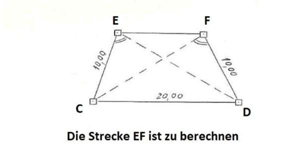 Strecke berechnen Viereck Winkel?