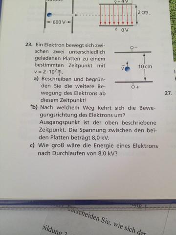 Aufgabe Nummer 23.b) - (Mathematik, Physik, verzweifelt)