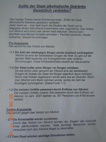 streit um errterung deutschunterricht schule deutsch lehrer - Dialektische Erorterung Beispiel Klasse 9