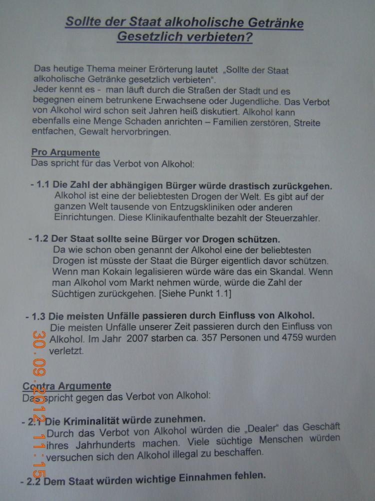 streit um errterung deutschunterricht schule deutsch lehrer - Erorterung Beispiel Klasse 10