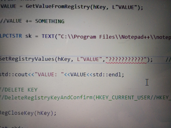 - (programmieren, hacken, String)