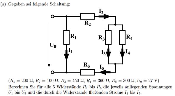 Strom bei Reihen- und Parallelschaltung von Widerständen?
