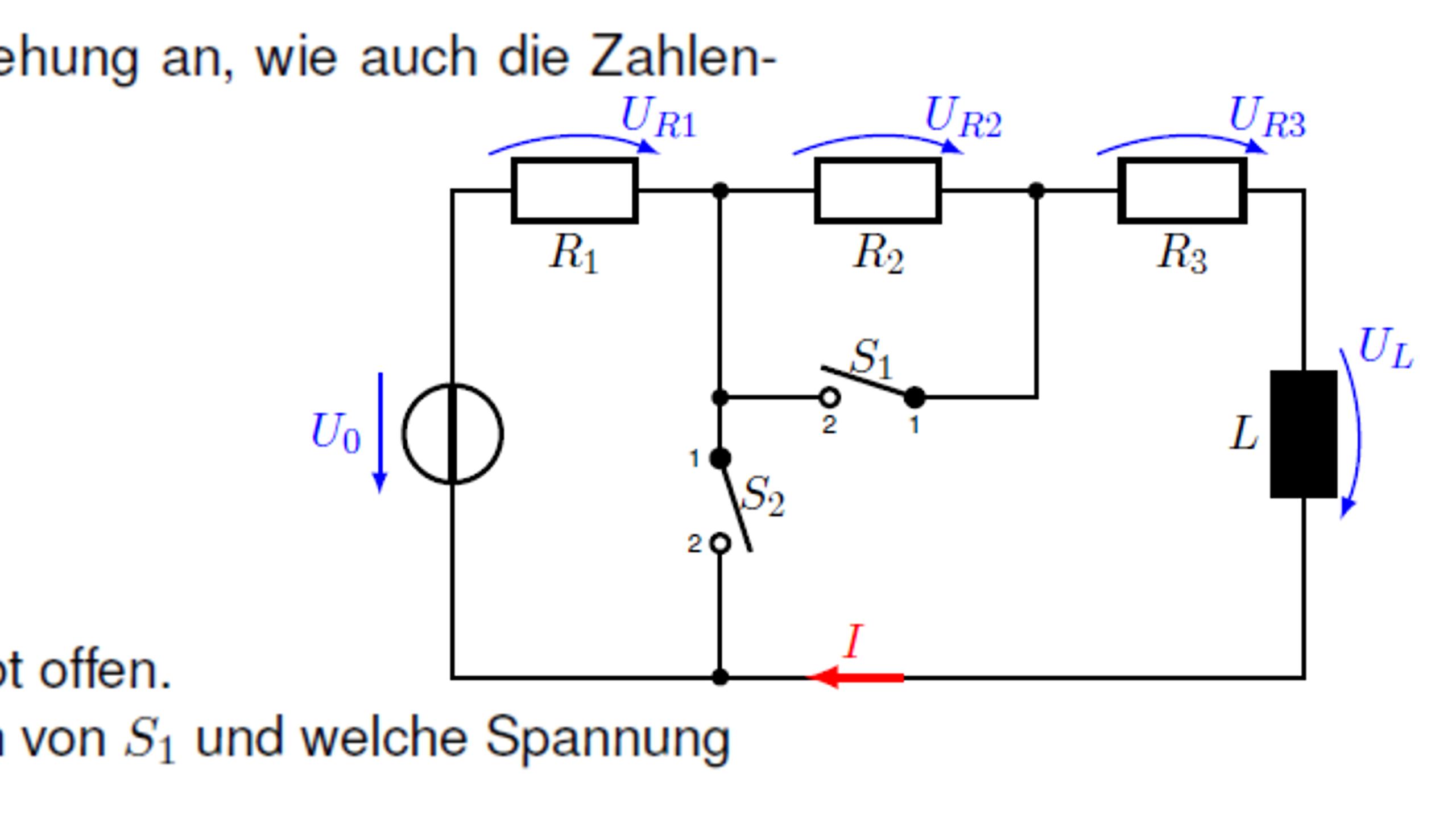 Stromkreis mit zwei Schaltern und einer Spuler - Was passiert wenn ...