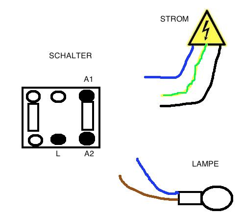 stromschalter mit strom lampe verkabeln welches kabel muss wo hin siehe grafik. Black Bedroom Furniture Sets. Home Design Ideas