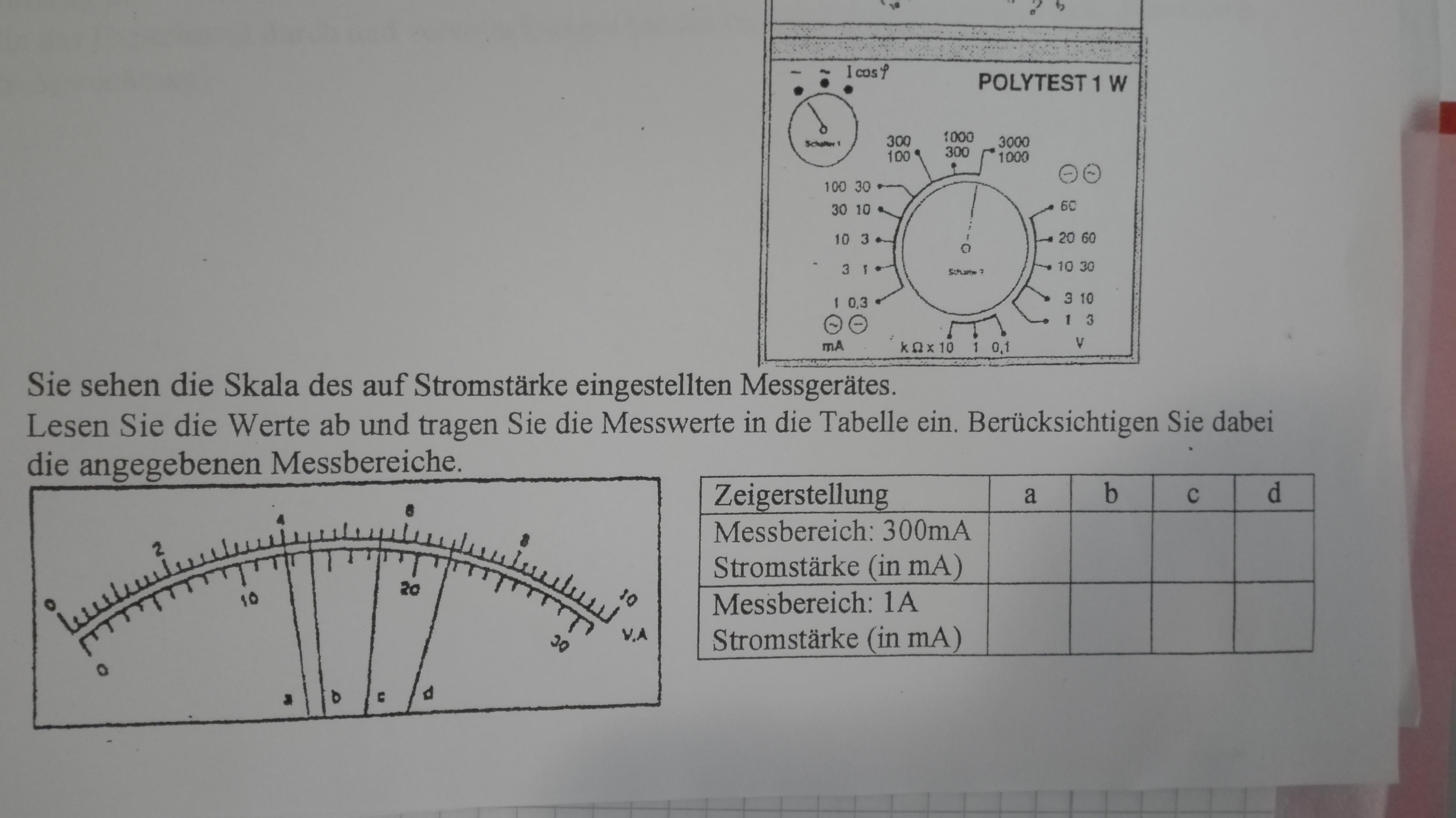 Stromstärke ablesen? (Computer, Schule, Physik)