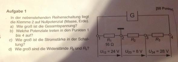Aufgabe - (Elektrotechnik, Spannung)