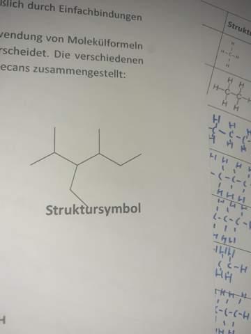 Struktursymbol Alkan?