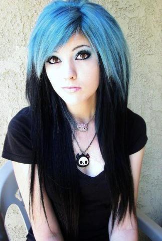 blau-schwarz - (Frisur, Klamotten, Style)