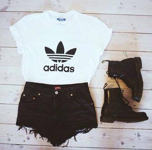 adidas shirt schwarz weiß damen