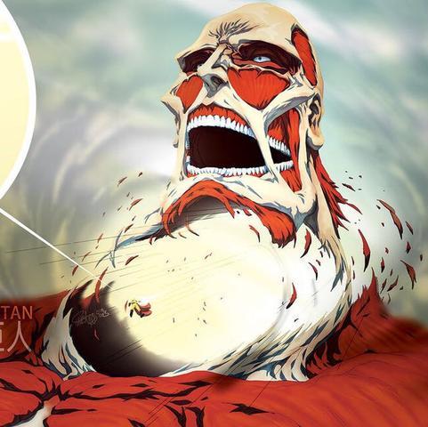 Saitama vs Gigatitan -> (Attack on Titan) - (Anime, One Punch Man, OP-Protagonist)