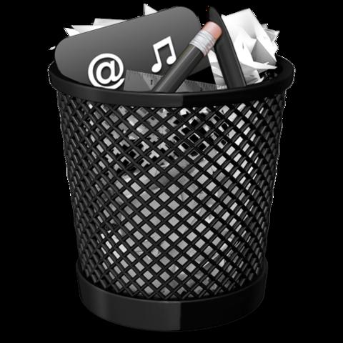 Papierkorb Icon (voll) - (Computer, Software, Bilder)