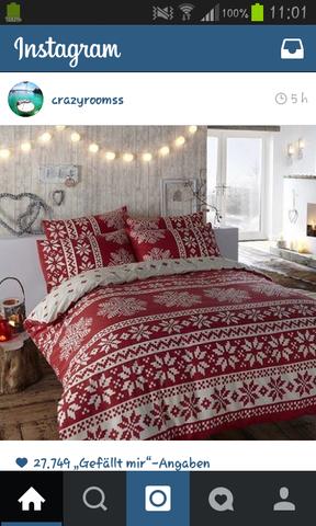 Die habe ich auf instagram gesehen und möchte wenn möglich genau die haben - (schlafen, Zimmer, rot)