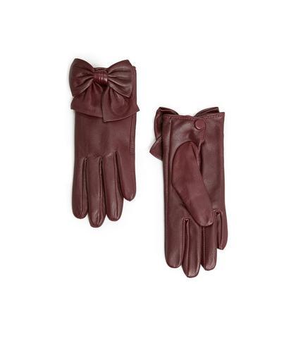 Hier die Handschuhe - (Kleidung, rot, Leder)