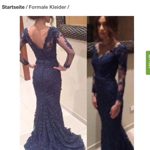 Dies ist das Kleid  - (Kleid, Rücken, blau)