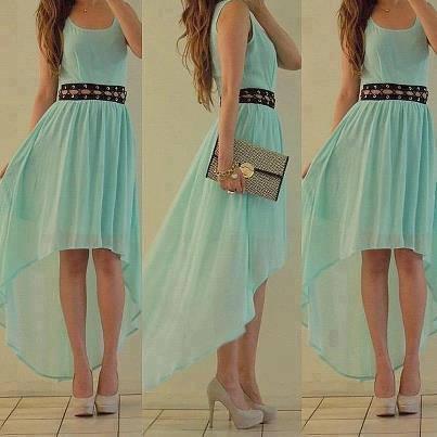 Kleid mit vokuhila schnitt - (Beauty, Kleidung, Kleid)