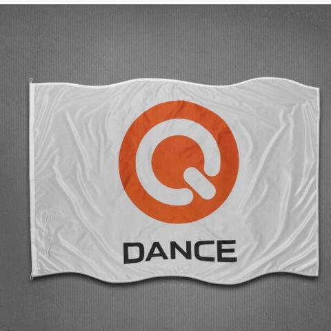 Q-Dance Flagge - (Flagge, Hardstyle,  Qbase)