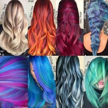 Hier verschiedene Haare gemacht von Guy Tang. - (Haare, Farbe, Friseur)