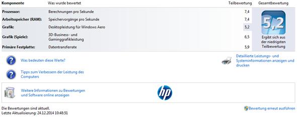 Hier sieht man die Bewertung von Windows.. - (Gaming, Grafikkarte, Prozessor)