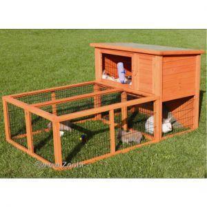stall  - (Kaninchen, draußen, Auslauf)