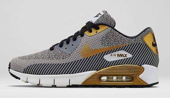 Nike Air Max 90 Jacquard (Gold/Metallic) - (Schuhe, Nike)