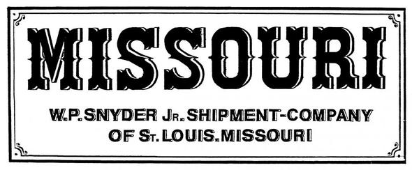 Missouri - (Computer, Schriftart, amerikanisch)