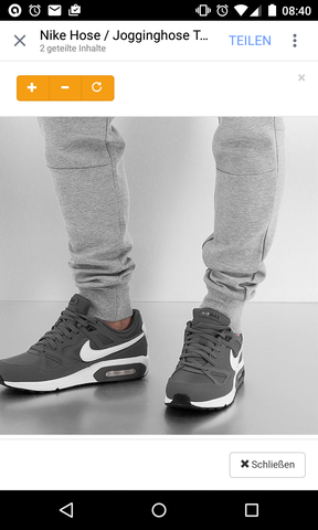 Hab das Bild bei DefShop gefunden. Dort wird jedoch nur die Jogginghose beworben - (Schuhe, Nike, air max)