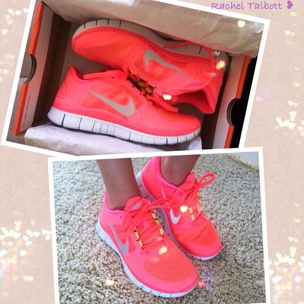 Nike Free Run 3 Damen Hot Punch Neon Pink Volt