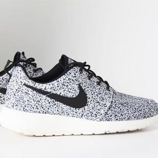 Nike Roshe Run Schwarz Grau Damen