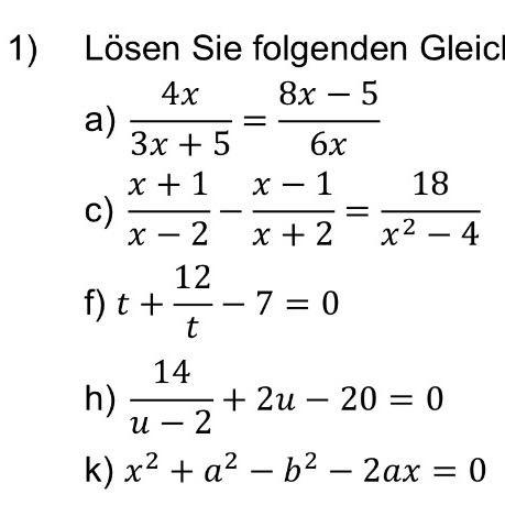 Suche Rechenweg bei folgenden Gleichungen? (Schule, Mathematik)