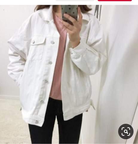 Suche so eine weiße denim Jacke wo?