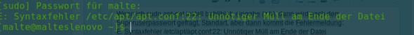 Das kommt... - (Linux, Terminal, fedora)