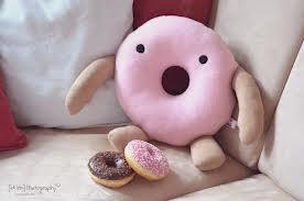 Donut - (selber machen, süß, Kissen)