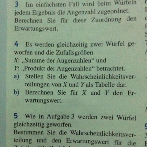 Das ist die Aufgabe 4 , die ich nicht verstanden habe. - (Mathe, Stochastik, Augenzahl)