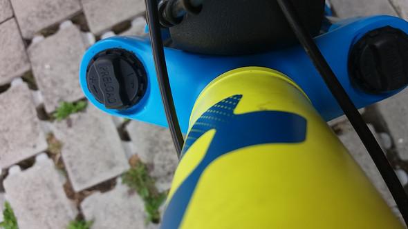 von oben. kein lockout und keine gabelsperre - (Fahrrad, Federung)