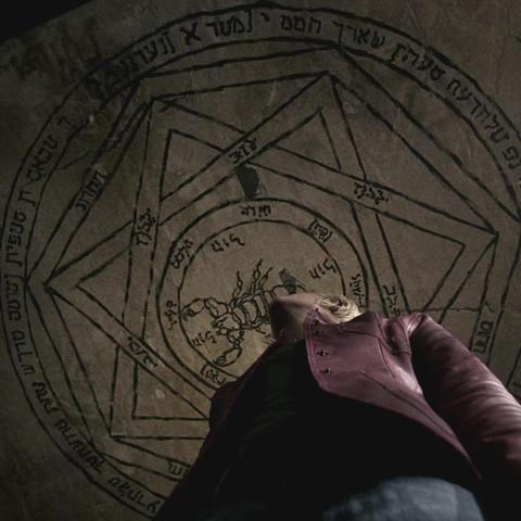 Teufelsfalle mit aramäischen Schriftzeichen - (Religion, Judentum, Supernatural)