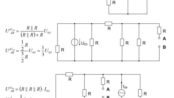 Schaltung mit den Widerständen R1 bis R6 - (Mathematik, Physik, Elektronik)