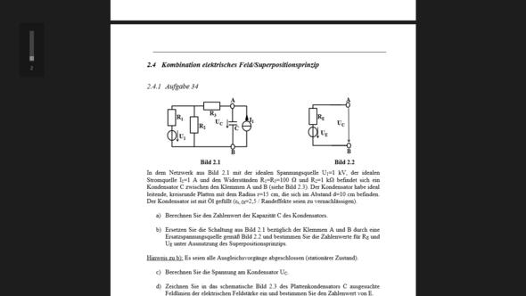 Schaltung, bei der R3 vernachlässigt wird - (Mathematik, Physik, Elektronik)