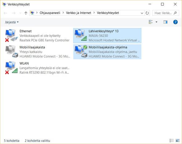 Screenshot von beiden Netwerken(?) HUAWAI und MAIJA - (WLAN, surfen)