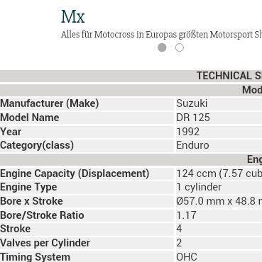 Daten - (Motorrad, Motor, 125ccm)