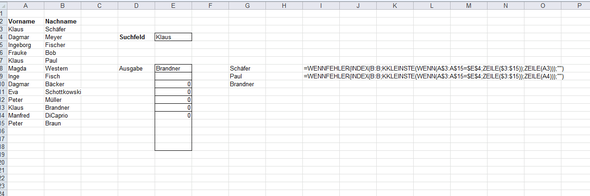 Sverweis Mit Mehreren Suchergebnissenindex Microsoft Excel Ms