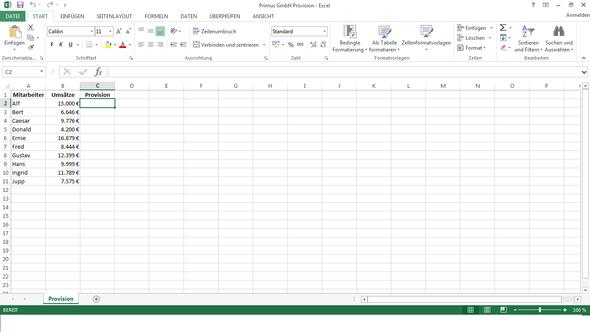 Hier zur Veranschaulichung! - (Excel, Prozent, Provision)