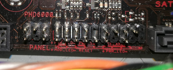 system panel connectors asus b350 motherboard?